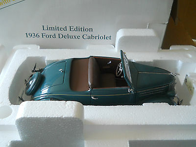 Danbury Mint 1936 Ford Deluxe Cabriolet Limited Edition 1:24 Box