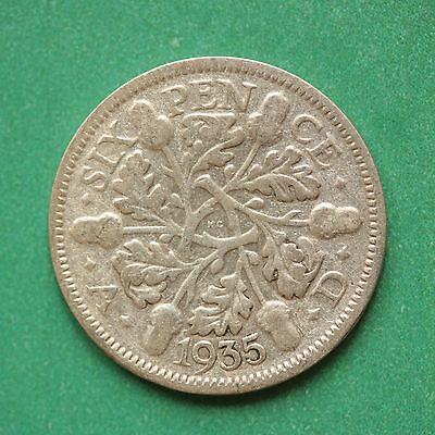 1935 George V Silver Sixpence SNo43900