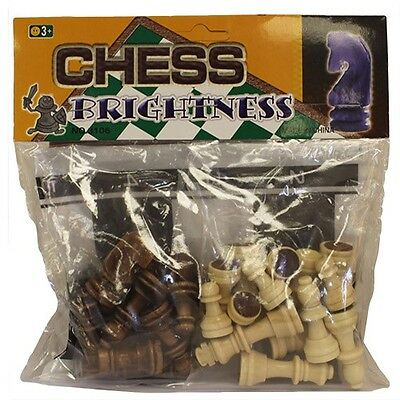 Just Chess Pieces Includes Plastic Sheet Chessboard - Various Choices