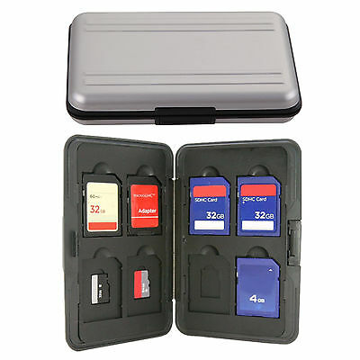 16 in 1 Aluminum Micro SD SDHC SDXC Memory Card Box Storage Case Holder FastShip