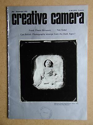 Creative Camera. September 1974. Frank Photo Museum, British Photography etc