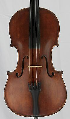 Nice old antique 4/4 Violin German Strad  Copy Fine Grain One Piece Back