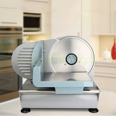 Home/Commercial Electric Meat Slicer Deli Bread Restaurant Food Cutter Machine