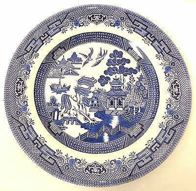 """Blue Willow Dinner Plate (S) Churchill England 10 1/4"""" Vintage Excellent Condit"""