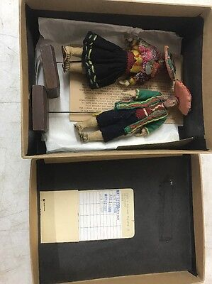 Vintage Peruvian Costume Folk Dolls - Provenance From Newark Museum Collection