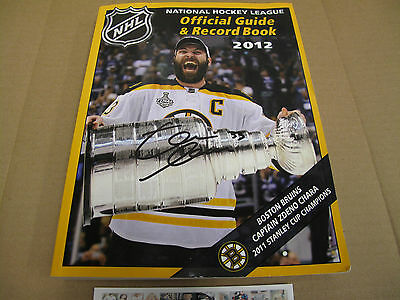 Zdeno CHARA Boston Bruins orig signed NHL guide book 2012 with  Stanley Cup. COA