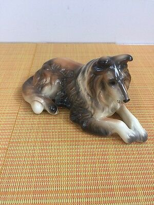 Vintage Giftcraft Collie Dog Figurine Made In Korea.