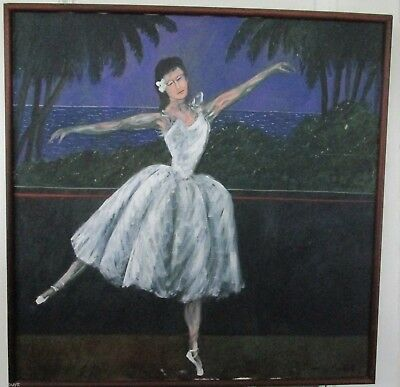 "Rare Large Original Painting By Guy Buffet,  ""ballerina"" C. 1990's"