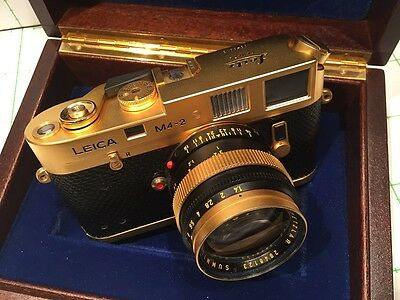 LEICA GOLD M4-2 - SUMMILUX 1.4/50mm GOLD - NEW - BOXED - REF: CK
