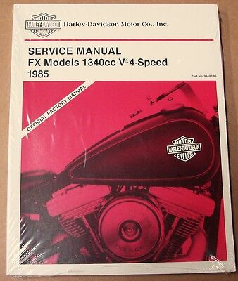 1985 Harley Service Repair Manual Fxef Fxsb Fxwg Fxst Evo 4-Speed Nos 99482-85