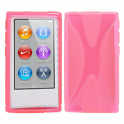 New Hot Pink Soft TPU Case Cover Skin For Apple ipod Nano 7 7G 7th Generation