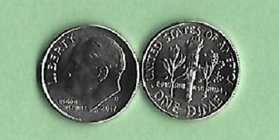 2017-D Uncirculated Roosevelt Dime - I Have All P-D-S Clad Dimes Listed