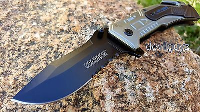 "8"" AIR FORCE TAC FORCE SPRING ASSISTED FOLDING KNIFE Blade pocket open switch"