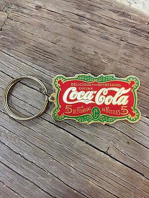 1987 Coca Cola Keychain - Delicious and Refreshing Drink - Fountain Bottles
