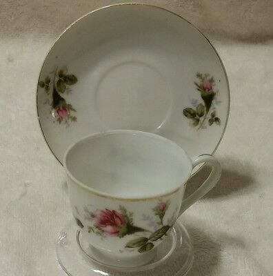 Mini Tea Cup And Saucer  Made In Japan Floral Pattern Rose