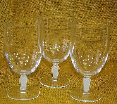 Set of 3 - Sogaro-Frosted Cristal D'Arques Durand Iced Tea / Water Wine Goblets