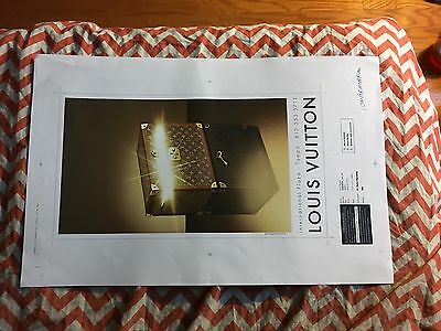 One Of A Kind  Louis Vuitton Trunk And Key Two Sided Master Ad Proof 11x17