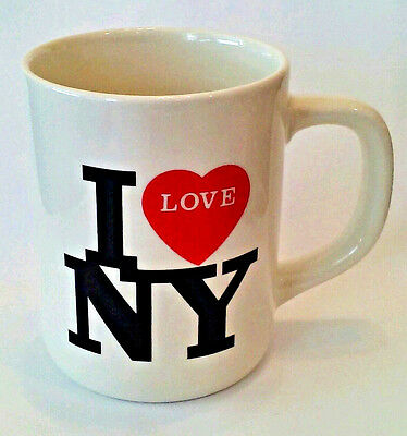 I Love NY New York Coffee Mug Tea Cup White Red Heart Love 10oz NYC Cup