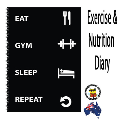 Diet Diary Weight Food + Gym Journal Workout Fitness Log Tracker Trainer
