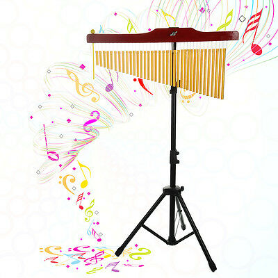 Music 36-Tone Bar Chimes Single-row Wind Chime Percussion Instrument with Stand