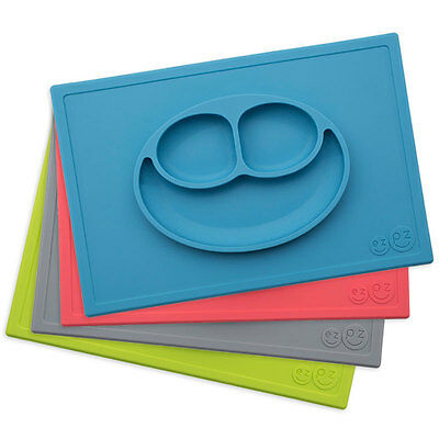 EZPZ - The Happy Mat - Placemat & Plate in One + Suction -  Choose Color