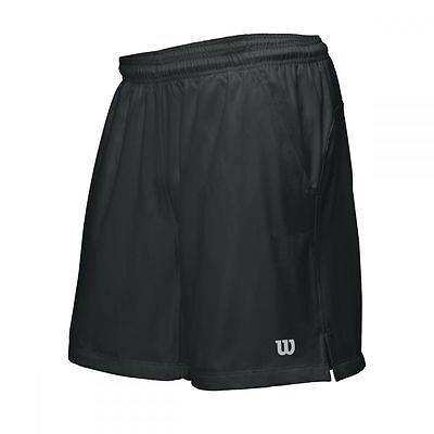 Wilson Rush 9 Woven Tennis-Short Men schwarz 2016 NEU UVP 39,95€