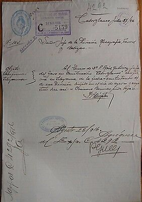 Argentina 1916 Ministry Of Marine Hydrographic Dept Lighthouse Division Document