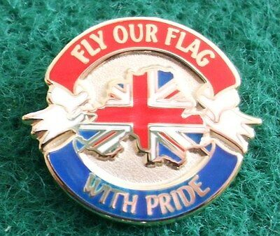 Northern Ireland Union Flag Protest Fly Our Flag With Pride Loyalist Pin Badge