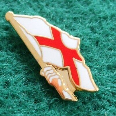 Fluttering Flag England Pin Badge