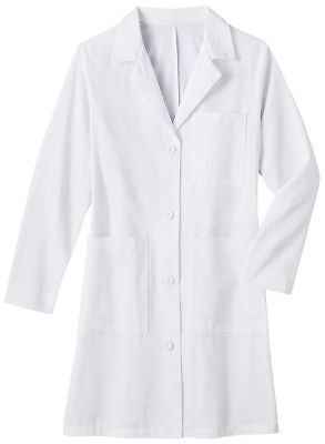 Meta Women's 38 Inches Hand Access Slits Long Sleeve 100% Cotton Lab Coat. 651