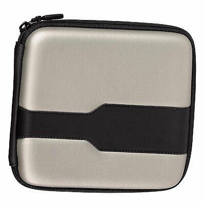 Silver 24 Disc Holder Storage Bag Wallet Hard Case Cover CD DVD Carry Sleeve
