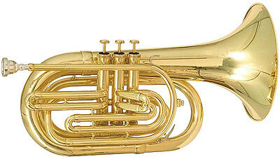 Blessing BM-301 Marching Series Bb Baritone Horn with Case - Lacquer Finish