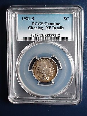 1921 S Buffalo Nickel PCGS XF Details KEY DATE 5c Coin PRICED TO SELL NOW!