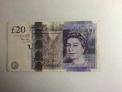 Twenty English Pounds (£20 Note)