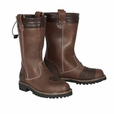 Spada Pallas WP Waterproof Motorcycle Motorbike Leather Ladies Boots - Brown
