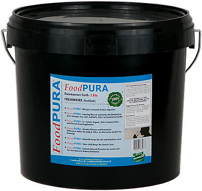 Food PURA® 3KG Human CODEX FOOD Grade Diatomaceous Earth DE Pure Fresh Water