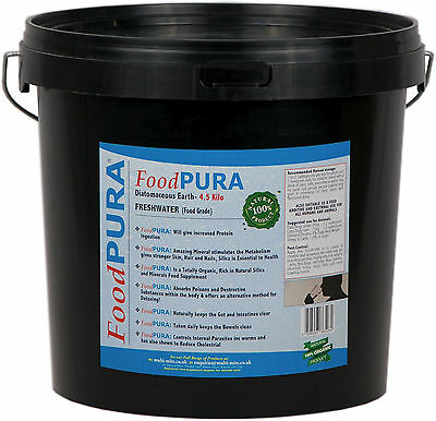 Food PURA® 4.5KG Human CODEX FOOD Grade Diatomaceous Earth DE Pure Fresh Water