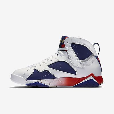 304775-123] Air Jordan 7 Retro White Gold Royal Blue Mens