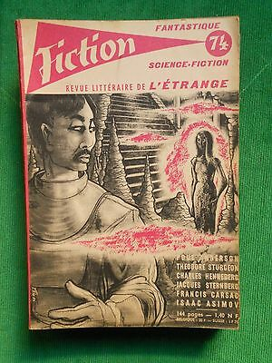 Revue Fiction N 74  Opta Jan 1960 Poul Anderson Charles Henneberg Isaac Asimov