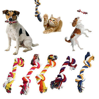 5 Dog Chew Toys Play Puppy Knot Fun Tough Strong Throw Pet Tug War Fetch Ropes
