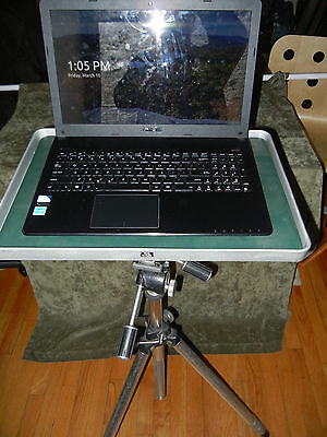 "19""X13"" German projector computer table top w/ Bogen Head for Mounting on Tripod"