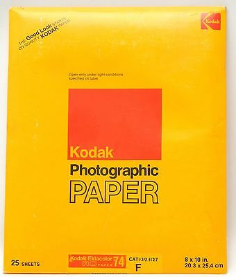25 Pk Kodak Ektacolor 74 RC 8 x 10 Paper Sealed