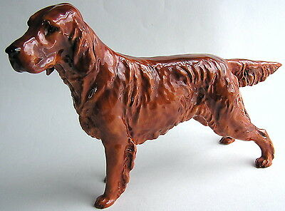 "Large! Royal Doulton IRISH SETTER HN 1054 12 3/8"" Long 7 5/8"" High Dog Figurine"