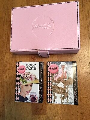 Vintage Coca Cola Playing Cards Good Taste And Case Very Rare