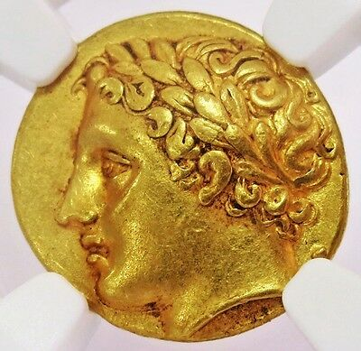 317- 289 Bc Gold Sicily, Syracuse Agathocles Decadrachm Apollo Coin Ngc Xf 4/5