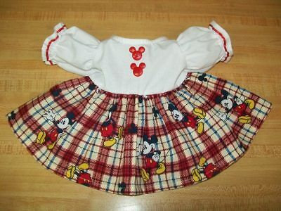 "DISNEY MICKEY MOUSE DRESS W/ MOUSE EARS BUTTONS for 16"" CPK Cabbage Patch Kids"