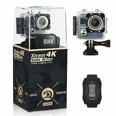 4K WIFI Sports Action Camera Ultra HD Waterproof DV Camcorder 12MP 170 Degree