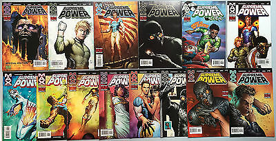 Beautiful Run of 14 x SUPREME POWER (Marvel Max, 2003) #1 to #14