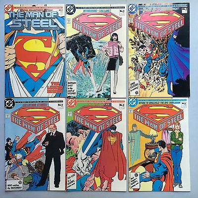 Beautiful Run: 6 x SUPERMAN: MAN OF STEEL (DC Comics, 1991) #1 to #6