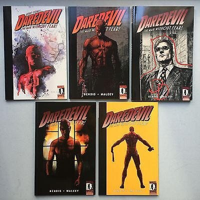 Lot of 5 x DAREDEVIL TBPs from MARVEL - By Brian Michael Bendis